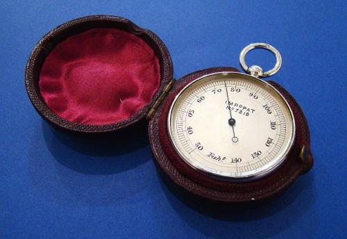 Silver Pocket Thermometer