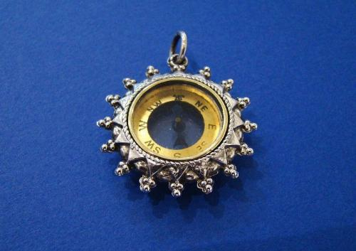 Silver Compass Fob/Pendant