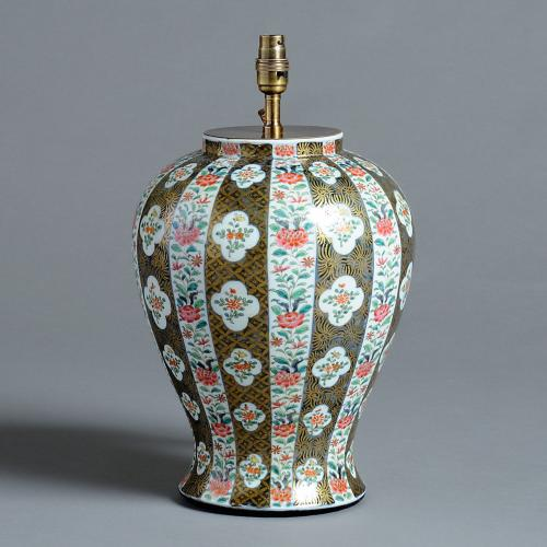Japanese Vase Fitted as a Lamp