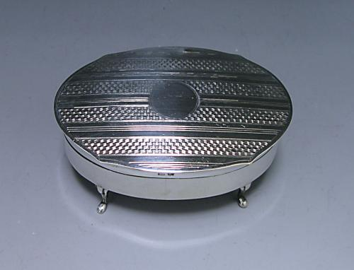 A Sterling Silver George V Jewellery Box