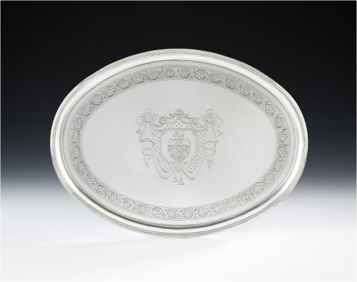 A very fine George III Drinks Salver made in London in 1791 by Thomas Daniel.