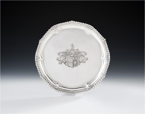 PAUL STORR. An exceptionally fine & rare George III Salver made in London in 1812 by Paul Storr.