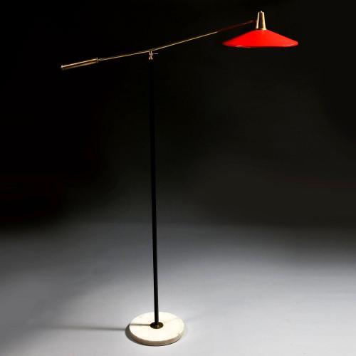 A Midcentury Italian Standard Lamp After Stilnovo