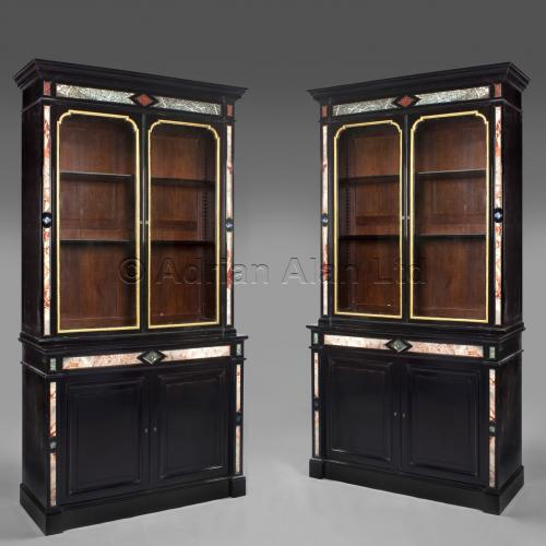Pietre Dure Bookcases ©AdrianAlanLtd