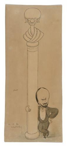 Portrait of A.B. Walkley, Sir Max Beerbohm (British 1852-1956)