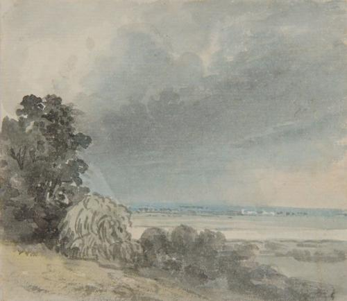Paul Sandby, R.A. (British 1725-1809) - Trees in a river landscape