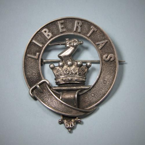 EVANS English or Welsh Antique Silver Clan Badge. Circa 1880