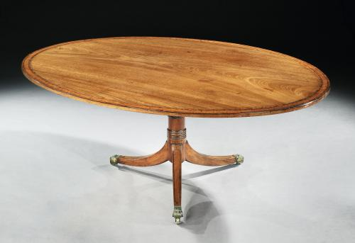 Large Period Mahogany Oval Breakfast Table Seating for 8