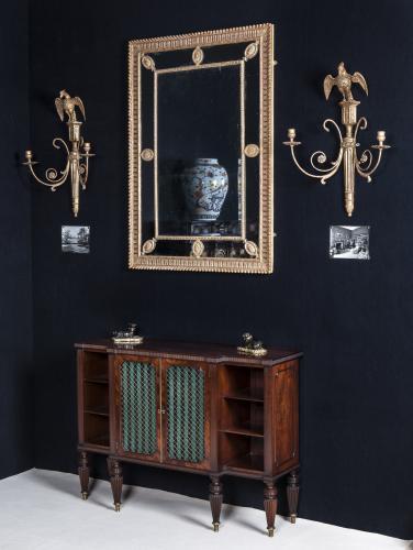 Regency Period Mahogany Breakfront Cabinet - Bookcase