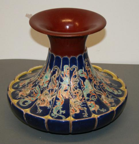 An unusual vase attributed to makuzu kozan