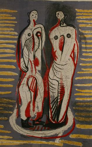 Henry Moore (1898 – 1986) Two Standing Figures 1948/49
