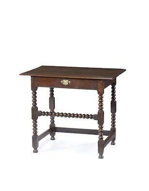 A late-17th century oak sidetable