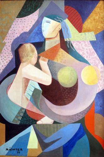 Hans Richter (1888 - 1976)  Mother & Child