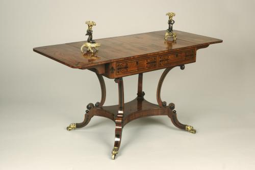 Pure Regency Period Mahogany Sofa Table