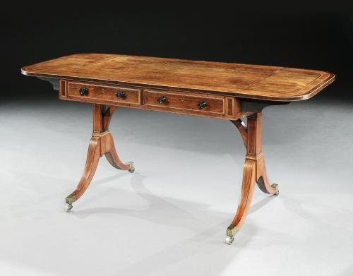 18th CenturySheraton/ Regency Period Rosewood Sofa Table