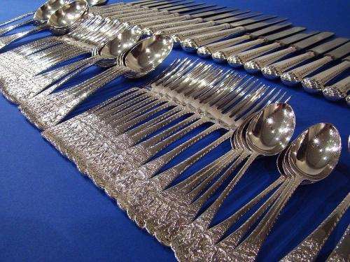 A Rare Victorian Silver 'Neptune' pattern Cutlery Set Containing 86 Pieces M