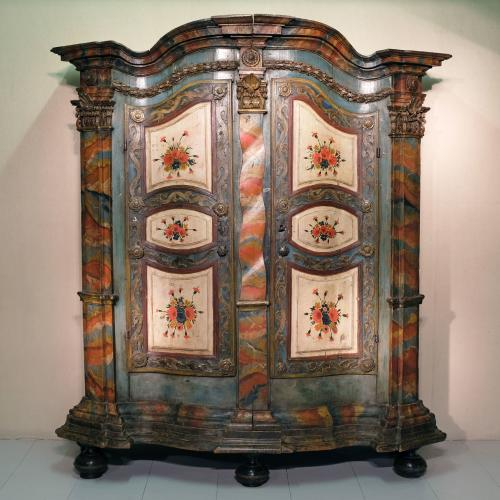 18th Century Tyrolean Painted Cupboard / Armoire