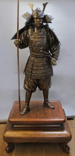Large Scale Okimono of a Samurai