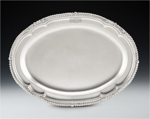 An extremely fine George IV Meat Dish/Serving Platter made in London in 1825 by Richard Sibley