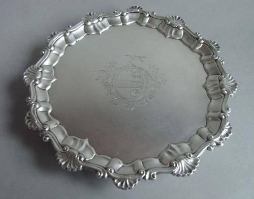 An early George III Salver made in London in 1761 by Ebenezer Coker