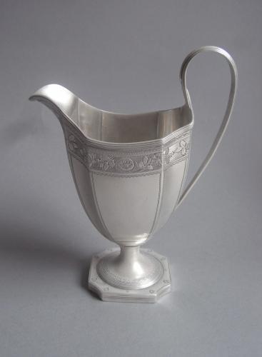 A fine George III Helmet Milk Jug made in London in 1794 by Crespin Fuller