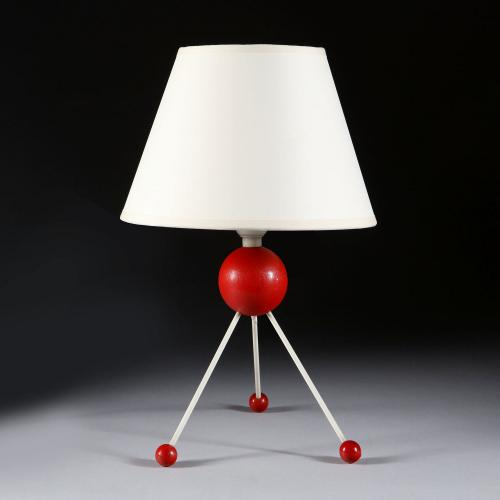 A Red Sputnik Lamp