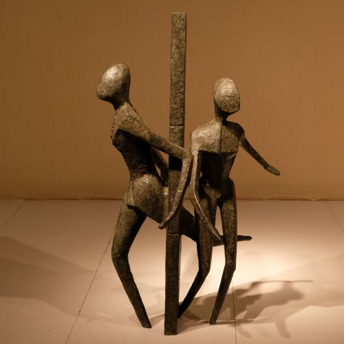 "20th Century Bronze Scuplture - ""Both Ways"" - Guy Buseyne"