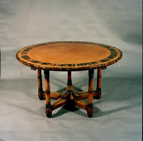 Rare and Important Pure Regency Period Amboyna , Library Centre Table