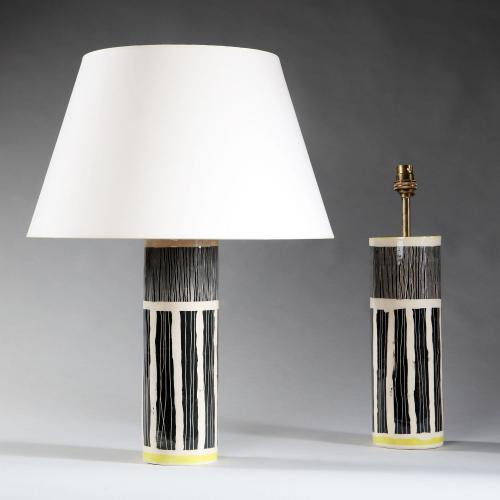 A Pair of Studio Pottery Vases as Lamps