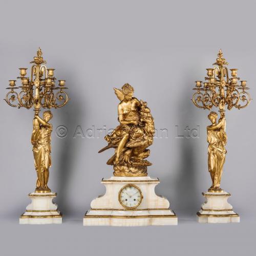 Charpentier & Cie Clock Garniture ©AdrianAlanLtd