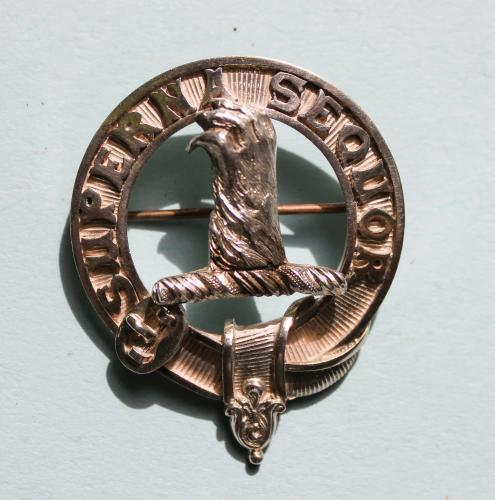 ALLAND Antique Silver Scottish Clan Badge