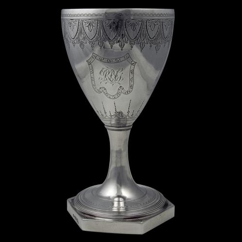Antique English Georgian Silver Wine Goblet