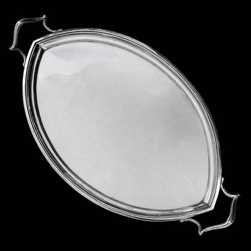Antique Silver Barnard Tray