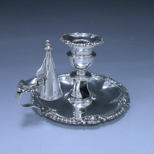 Antique Sterling Silver Chamberstick
