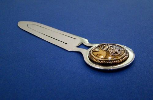 Scottish Silver & Brass 'Royal Navy Dress Button' Bookmark