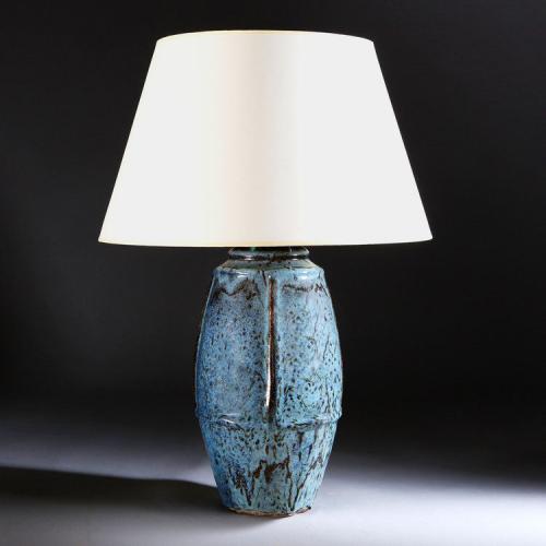 A Blue Oxblood Vase by Pierre-Adrien Dalpayrat