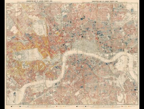 Charles Booth Descriptive Map of London Poverty