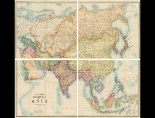 Edward Stanford: Stanford's Library Map of Asia