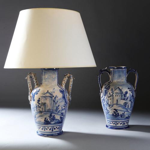 A Near Pair of 19th Century Italian Vases