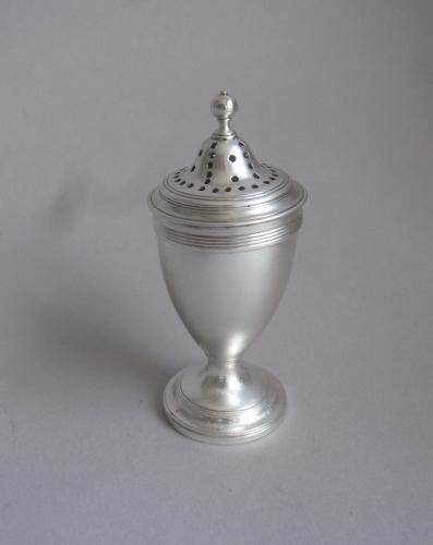 A fine George III Pepper Caster made in London in 1800 by John Robins