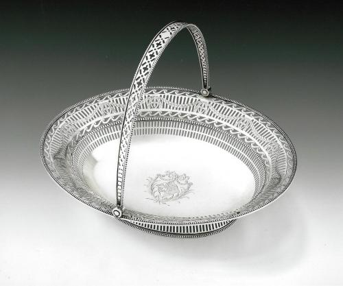An extremely fine George III Neo Classical Bread Basket made in Sheffield in 1777 by Richard Morton