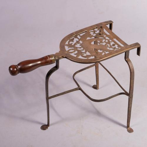 Mid 18th Century Bell Metal and Iron Trivet
