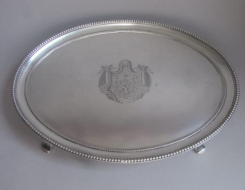 A very fine George III Salver made in London in 1784 by Daniel Smith & Robert Sharp