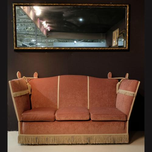 Early 20th Century Upholstered Camel Back Knole Sofa