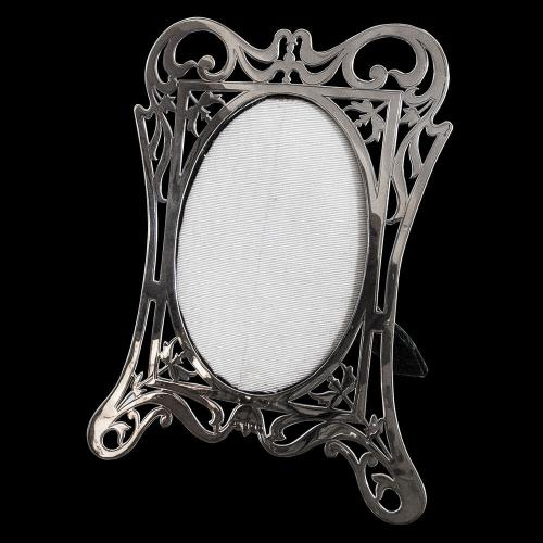 Fine Silver hand Pierced Silver Photograph Frame