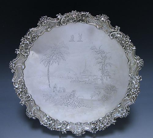 Victorian Silver Sterling Silver Salver