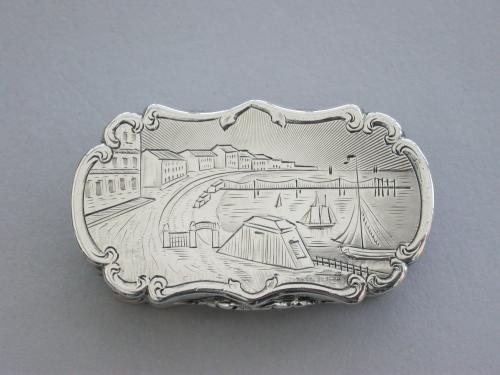 Victorian Silver Castle-Top Vinaigrette - Brighthelmstone (Brighton)
