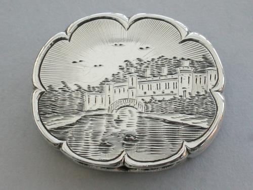 Victorian Silver Castle-Top Vinaigrette - Warwick Castle