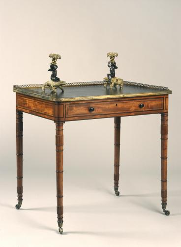 English Antique Regency Period Mahogany Writing Table