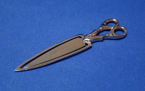 Victorian Silver 'Scissors' Bookmark
